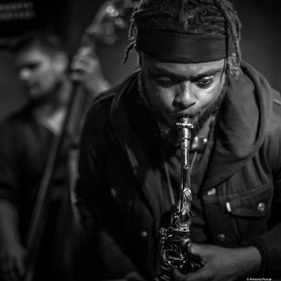 Logan Richardson (2017) at Jimmy Glass Jazz Club. Valencia.