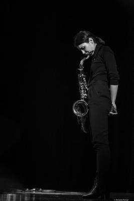 Melissa Aldana at Festival de Jazz de Valencia 2019.