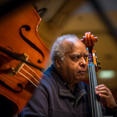 Ray Drummond in Saint Peter's Church of NYC. Bobby Hutcherson Memorial. 2017.