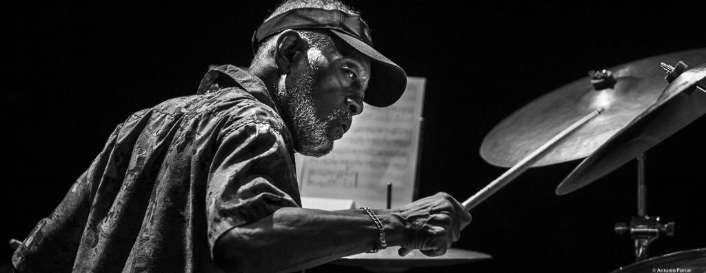 Victor Lewis at Begues Jazz Camp 2018.