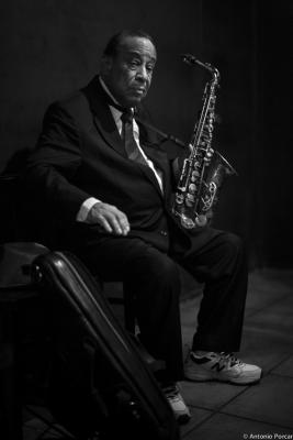 Lou Donaldson (2014) in Jimmy Glass Jazz Club. Valencia