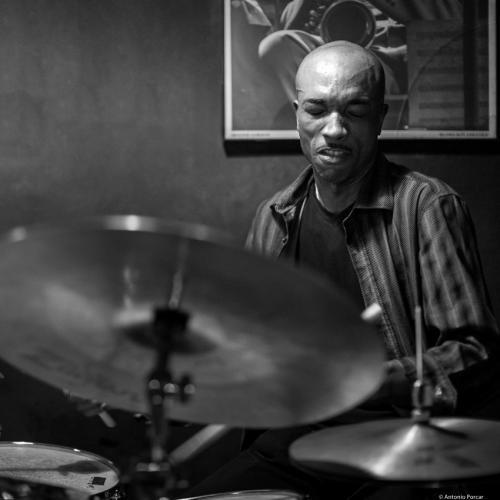 Eric McPherson (2016) in Jimmy Glass Jazz Club. Valencia.