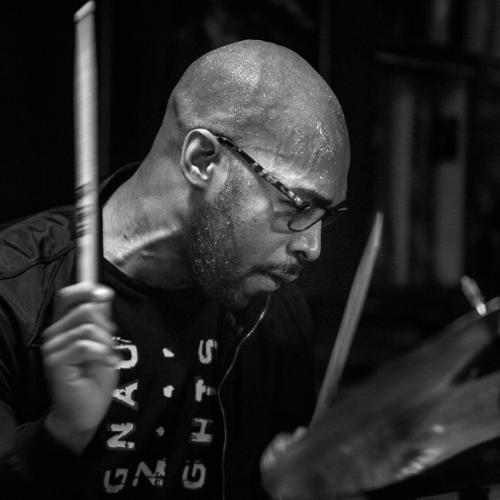 Eric Harland (2016) in Jimmy Glass Jazz Club. Valencia.