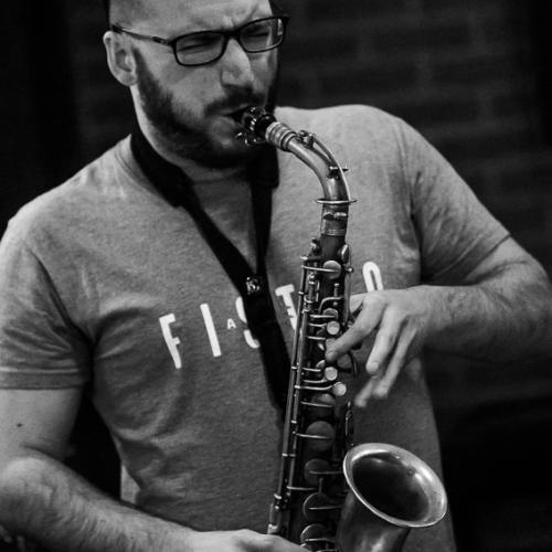 Carlos Ligero (2018) at Clarence Jazz Club. Málaga.