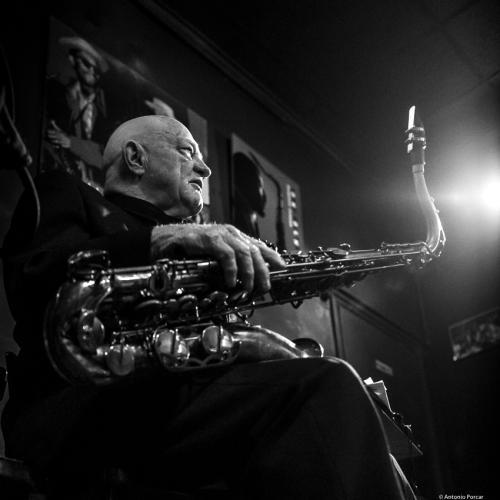 Don Menza (2019) at Jimmy Glass Jazz Club. Valencia.
