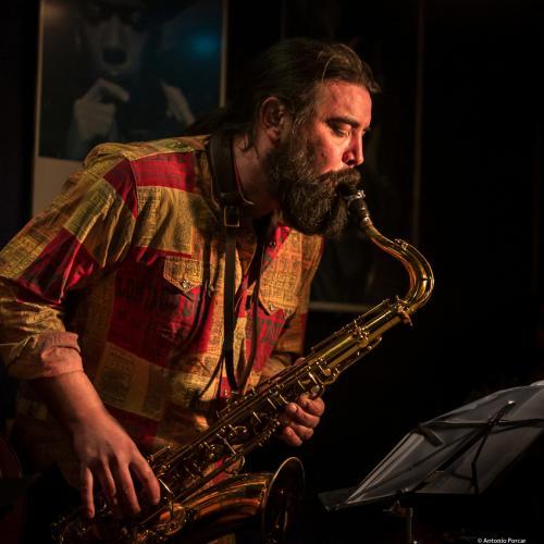 Javier Vercher (2018) at Jimmy Glass Jazz Club. Valencia.