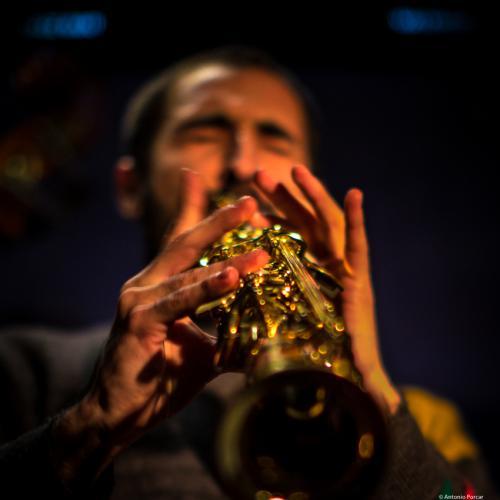Joan Saldaña (2017) in Jimmy Glass Jazz Club. Valencia.