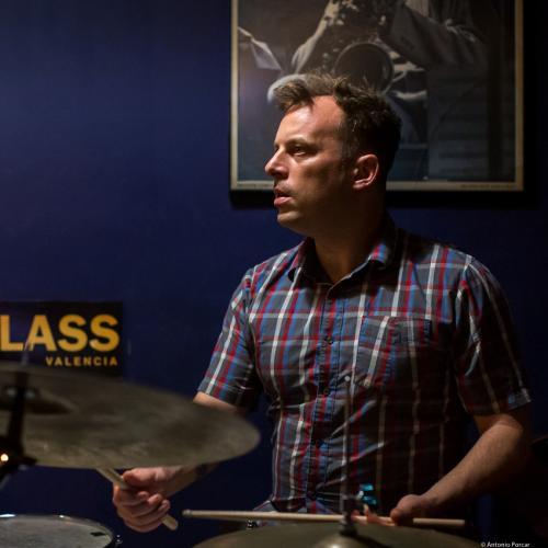 Jochen Rueckert (2018) at Jimmy Glass Jazz Club. Valencia.