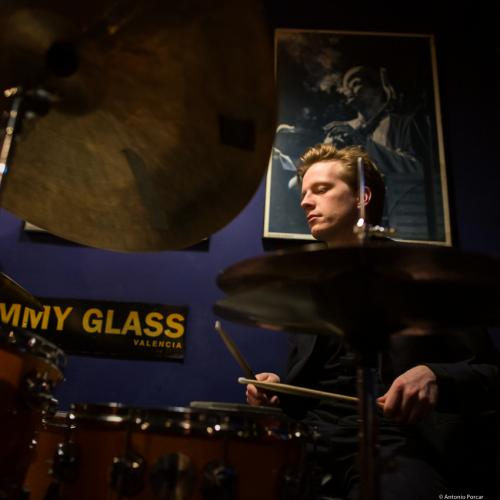 Karl-Henrik Ousbäck (2020) at Jimmy Glass Jazz Club. Valencia.