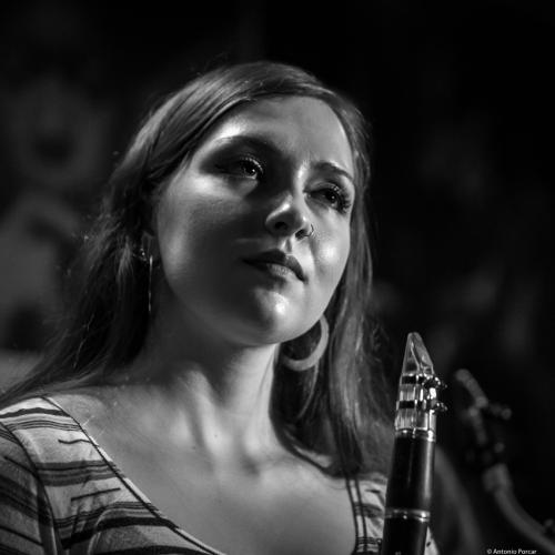 Virginia Frigault-MacDonald (2018) at Jimmy Glass Jazz Club. Valencia.